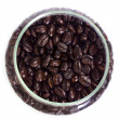 Jar of coffee beans — Stock Photo