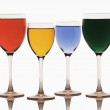 Assorted cocktails in wine glasses — Stock Photo