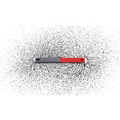 Iron filings around a magnet — Stock Photo
