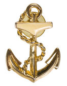 Anchor shaped brooch — Stock Photo