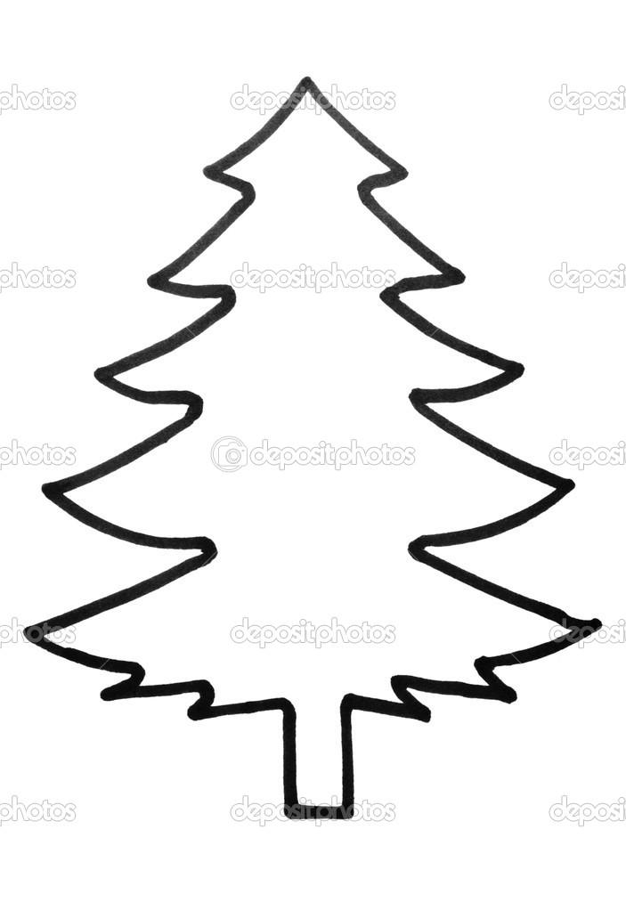 Outline of a Christmas tree — Stock Photo © imagedb_seller ...
