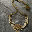 Gold necklace — Stockfoto