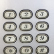 Keypad of an intercom — Stock Photo