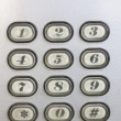Stock Photo: Keypad of intercom