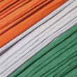 Colorful papers representing Indian flag — Stock Photo