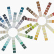 Design made by color swatches — Stock Photo