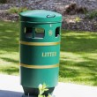 Stock Photo: Garbage bin in park