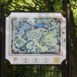 Close-up of map of a park — Stock Photo