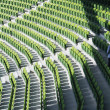 Chairs in a rugby stadium, Aviva Stadium — Stock Photo