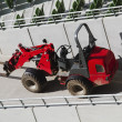 Forklift at a stadium — 图库照片