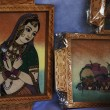 Paintings at a market stall — Stock Photo