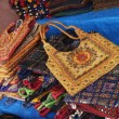 Bags for sale at a market stall — Foto Stock
