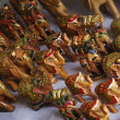 Figurines of elephants at a market stall, New Delhi, India — Stok fotoğraf