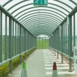 Stock Photo: Airport corridor