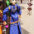 Traditional puppet at a market stall — Stock Photo
