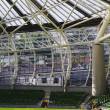 Empty rugby stadium, Aviva Stadium — Stock Photo