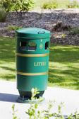 Garbage bin in a park — Stock Photo