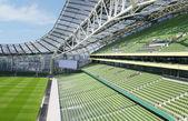 Empty seats in a rugby stadium, Aviva Stadium — Stock Photo