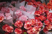 Flowers at a market stall — Stock Photo