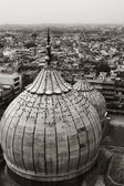 Domes of a mosque with cityscape — Stock Photo