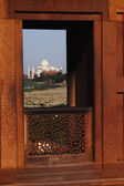 Agra Fort, Taj Mahal — Stock Photo