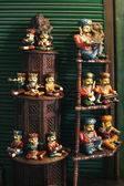 Figurines at a market stall — Stock Photo
