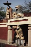 Statues at Lakshmi Narayan Temple — Stock Photo