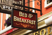 Signboard of a bed and breakfast — Stock Photo