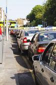 Traffic jam in a city — Stock fotografie