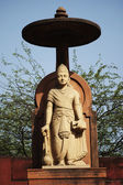 Statue of lord Vishnu at Lakshmi Narayan Temple — Stock Photo
