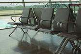 Cadeiras em um salão do Aeroporto — Fotografia Stock
