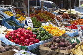 Fruits and vegetables at a market stall — Stock Photo