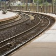 Railway platform and tracks — Stock Photo