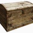 Stock Photo: Closed wooden chest