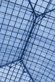 Structure frames of Louvre Pyramid — Stock Photo