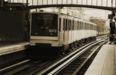 Vlak ve stanici — Stock fotografie
