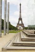 Eiffel Tower, Champ De Mars — Stock Photo