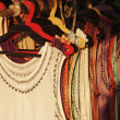 Stock Photo: Dresses hanging at clothing store