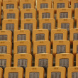 Chairs in a theme park — Stock Photo