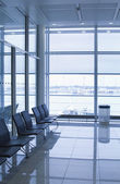 Chairs at an airport lounge — Stock Photo