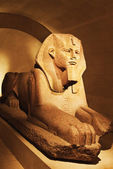 Sphinx statue in Musee du Louvre — Stock Photo