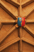 Coat of arms on a wall, Oxford University — Stock Photo