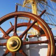 Stock Photo: Helm of clipper ship