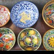 Stok fotoğraf: Display of ceramics crockery