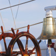 Bell on a sailing ship — Stock Photo