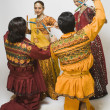 couples performing dandiya — Stock Photo