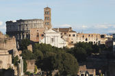 Ruins of building at Roman Forum — Stock Photo