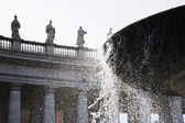 Fountain at St. Peters Square — Stock Photo