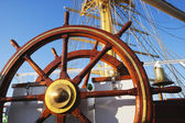 Helm of a clipper ship — Stock Photo