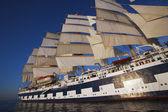 Clipper ship in the sea, — Stock Photo